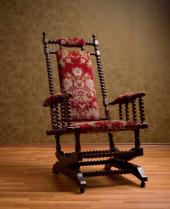 antique platform rocking chair with springs flip sofa sleeper chairs lovetoknow rockers rocker