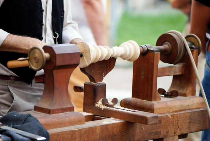 Antique Craftsman Wood Lathe