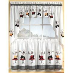Kitchen Curtians Cooking Oil Container Supplies Colorful Curtains Lovetoknow Cheery Chefs