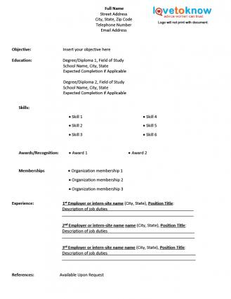 resume and template free resume forms to fill out free. Cv Printout Download