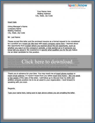 How to Write a Great Cover Letter  LoveToKnow