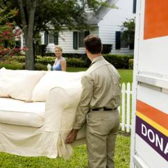Donate Sofa To Charity Rh Kensington Review Where Furniture In New Jersey Lovetoknow Carrying Into Donation Truck