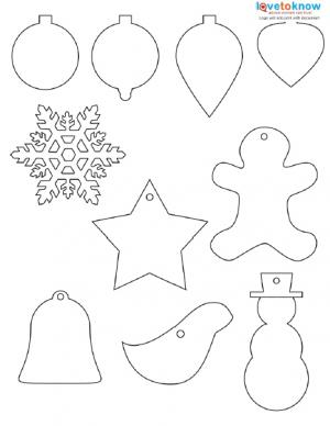 christmas shapes to print
