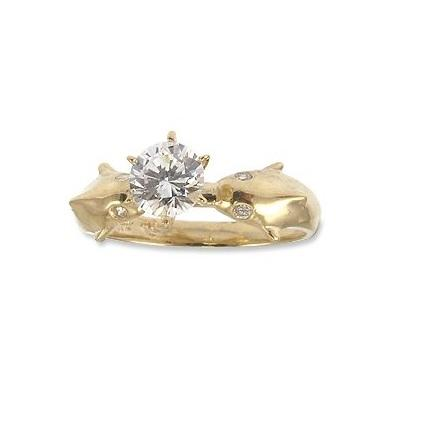 The most beautiful wedding rings: Gold dolphin wedding rings