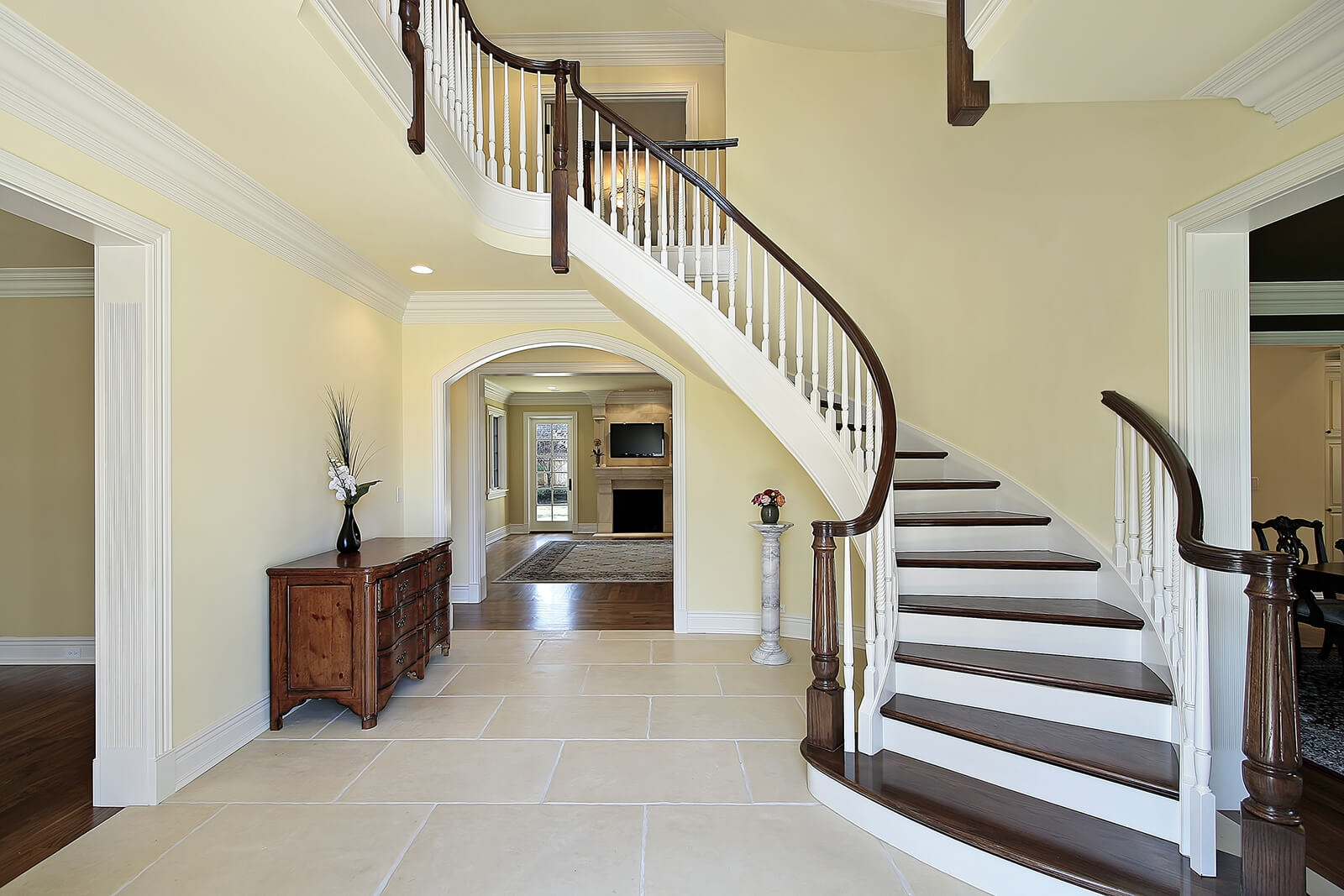 Important Feng Shui Tips For Stairs Lovetoknow   Open Concept With Basement Stairs In Middle Of House   Dining Room   Ceiling   Feng Shui   Kitchen   Stair Case