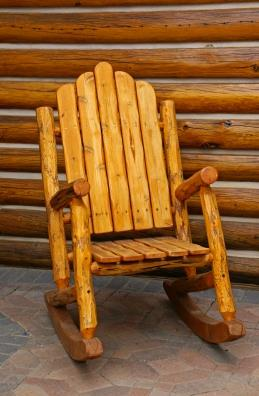 free log rocking chair plans