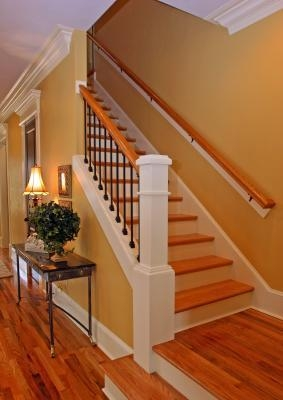 Installing Hardwood Stair Treads Lovetoknow | Installing Hardwood Stair Treads | Stair Railing | Wood Flooring | Staircase Makeover | Wooden Stairs | Carpeted Stairs