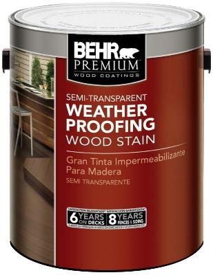 Behr Weatherproofing Wood Stain Can