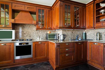 kitchen cabinet styles stainless steel doors outdoor kitchens glass front lovetoknow wooden cabinets with fronts