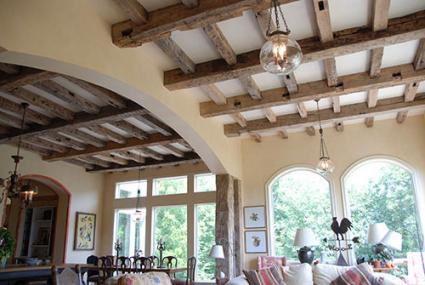 living room lighting ideas cathedral ceiling interior designs for rooms in indian decorative beams | lovetoknow