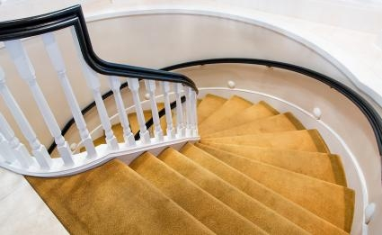 How To Choose The Best Carpet For Your Stairs Lovetoknow   Best Carpet Padding For Stairs   Landing   Moisture Barrier   Install   Flooring   Wooden Stairs