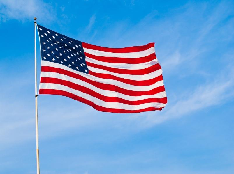 Image result for flying american flag