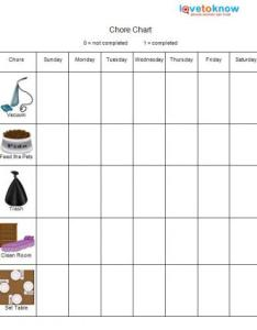 Elementary chore chart also printable charts for kids lovetoknow rh