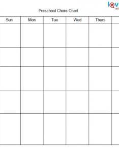 Preschool chore chart also printable charts for kids rh lovetoknow