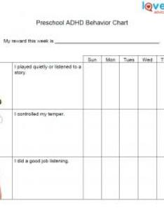 Kids  behavior chart for preschoolers with adhd also charts lovetoknow rh