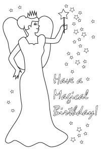 Happy Birthday Grandma Coloring Card Coloring Pages