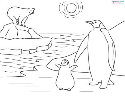 Printable Penguin Coloring Sheets and Facts for Kids