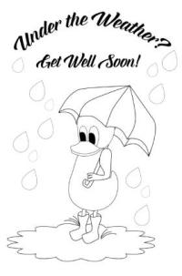 Get Well Soon Card Coloring Pages | Coloring Page