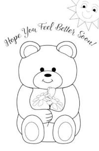 Get Well Cards Coloring Pages | Coloring Page