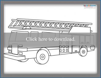 firetruck coloring pages # 87