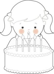 Free Birthday Girl Coloring Page