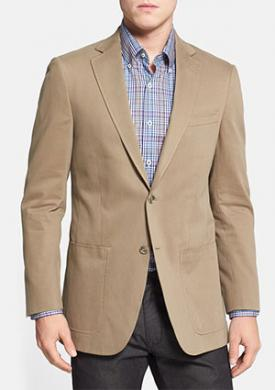 Hart Schaffner Marx New York Classic Fit Cotton Blazer