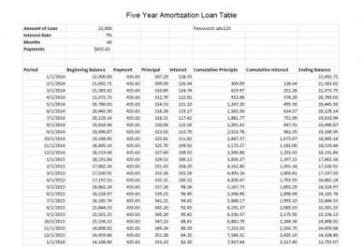 How to Create an Excel Amortization Table | LoveToKnow