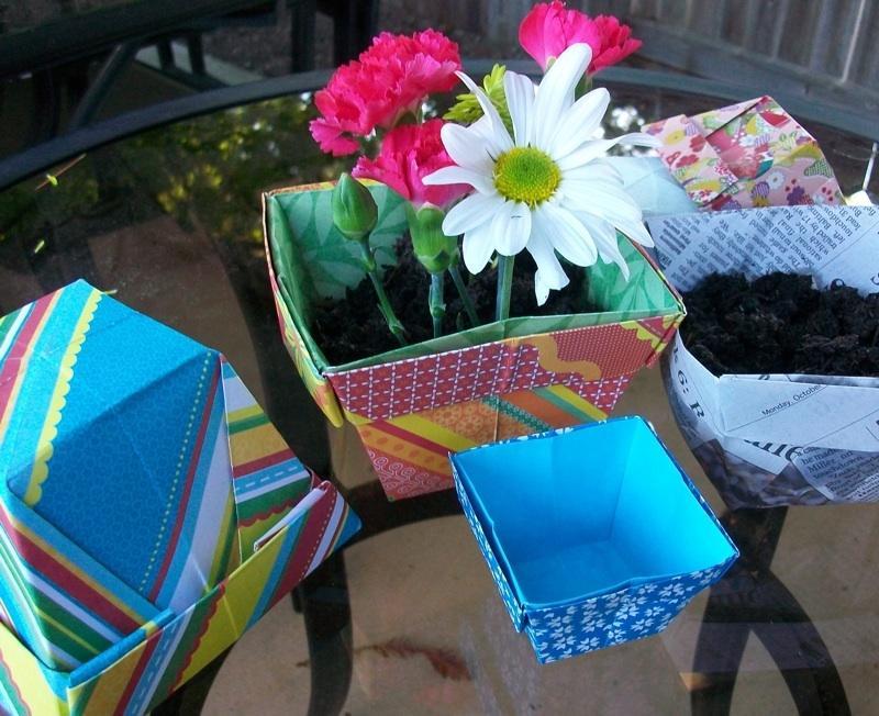 folding origami box diagram nuclear power plant schematic paper into pots [slideshow]