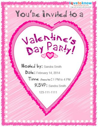 Valentine's Day Party Invitation Options LoveToKnow