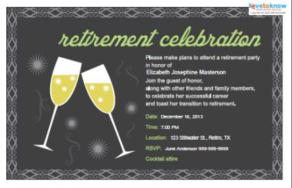 Retirement Party Invitations  LoveToKnow