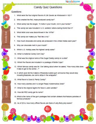 Pop quiz questions
