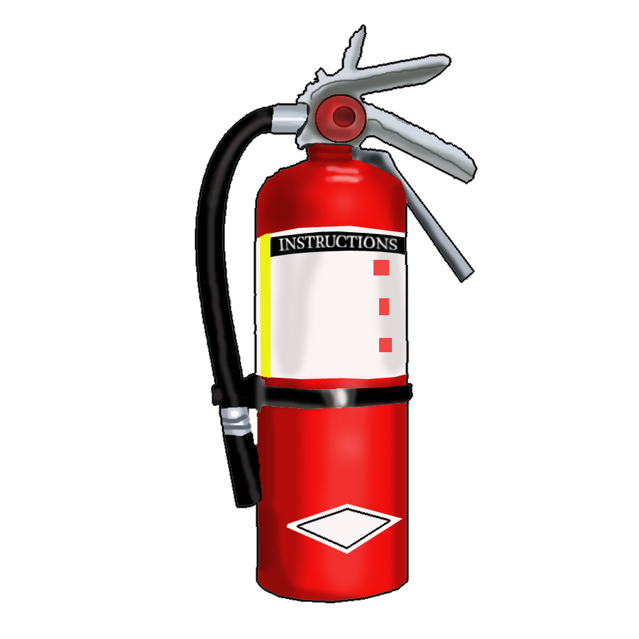 hight resolution of fire extinguisher