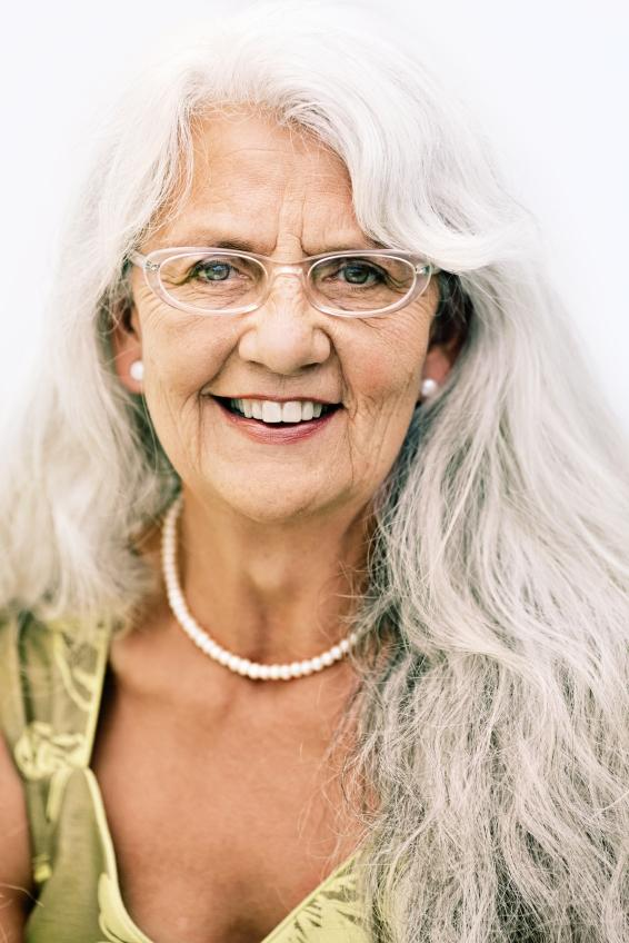 Long Hairstyles For Elderly Women