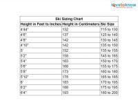 Ski Size Chart | LoveToKnow
