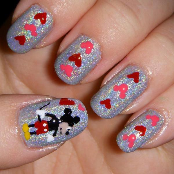 Small Mickey Mouse Nail Designs Imgurl