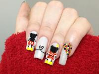 Minnie and Mickey Mouse Inspired Nail Art [Slideshow]