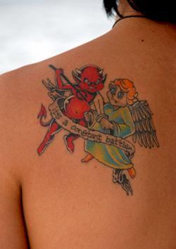 Angel And Devil Tattoo : angel, devil, tattoo, Angel, Devil, Tattoos, LoveToKnow