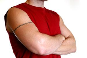Armband Biceps Tribal Tattoos For Men
