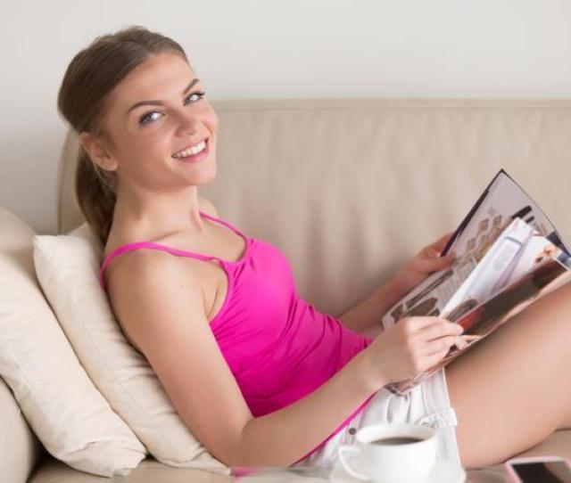 Teen Girl Reading Catalog