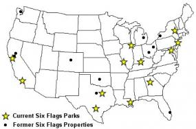 Six Flags Theme Park Locations