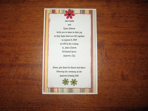 Make Your Own Christmas Wedding Invitations