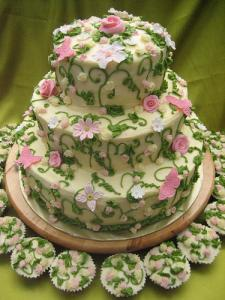 Garden Wedding Cake Ideas