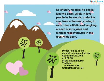 Funny Wedding Invitations Wording From Bride And Groom Matched With Attrcative Cartoon Charcaters