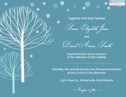 Winter Wedding Invitations LoveToKnow