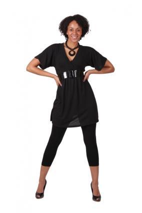 85ae674c573 black dress and leggings