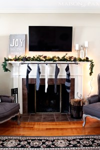 Classy (and affordable!) DIY Stocking Hanger - Maison de Pax