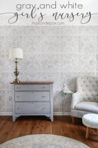 Gray and White Girl's Nursery - Maison de Pax