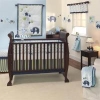 Baby Boy Crib Bedding Elephants - Baby Bedding Sets