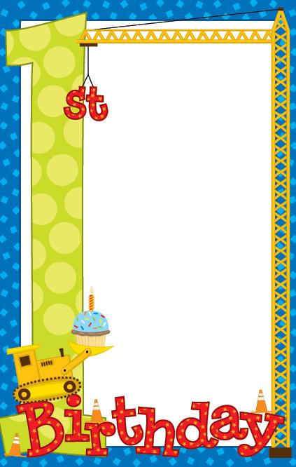 Blank Birthday Invitations Cake Ideas and Designs
