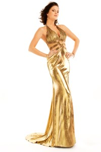 Long Dresses Gold